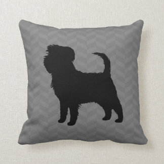 Affenpinscher Silhouette Throw Pillow