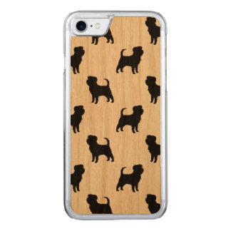 Affenpinscher Silhouettes Pattern Carved iPhone 7 Case