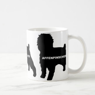 Affenpinscher silo black name coffee mug
