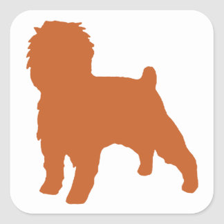 Affenpinscher silo red square sticker
