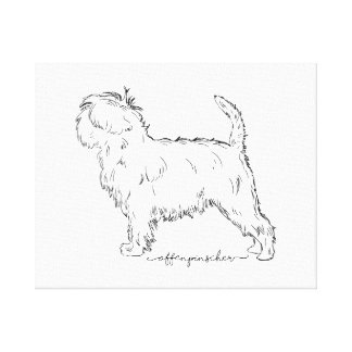 Affenpinscher sketch canvas print