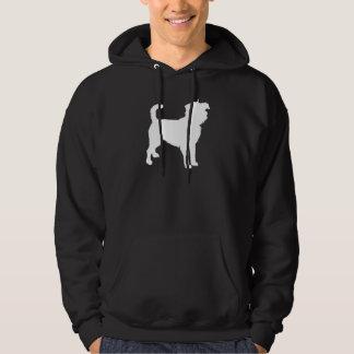 Affenpinscher (white) hoodie
