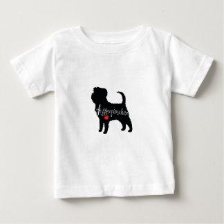 Affenpinscher with Heart Dog Breed Puppy Love Baby T-Shirt