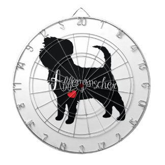 Affenpinscher with Heart Dog Breed Puppy Love Dartboard