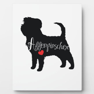 Affenpinscher with Heart Dog Breed Puppy Love Display Plaques
