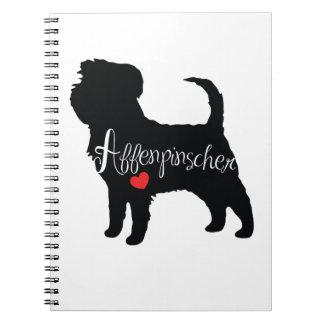 Affenpinscher with Heart Dog Breed Puppy Love Notebooks