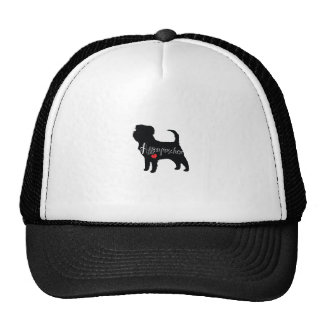 Affenpinscher with Heart Dog Breed Puppy Love Trucker Hat