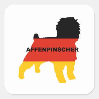 affenspinscher flag silo name square sticker