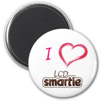 Affichage à cristaux liquides Smartie d'amour Magnet Rond 8 Cm