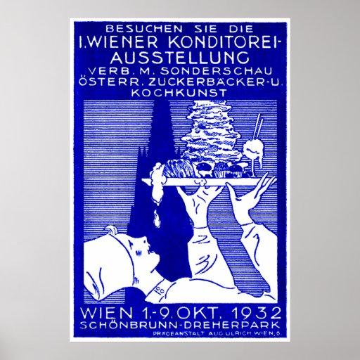 Affiche 1932 d'expo de boulangers de Vienne