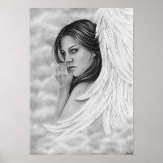 Affiche à la maison rentrante d'ange