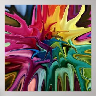 Affiche abstraite colorée lumineuse d'équilibre de
