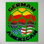 Affiche américaine allemande du football