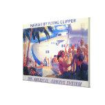 Affiche américaine de voyage de casserole vintage  toile tendue sur châssis