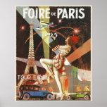 Affiche avec la copie d'art déco de Paris des anné