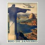 Affiche avec la copie vintage de Rio de Janeiro