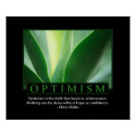 Affiche classique d'optimisme