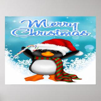 Affiche/copie de pingouin de Joyeux Noël Poster