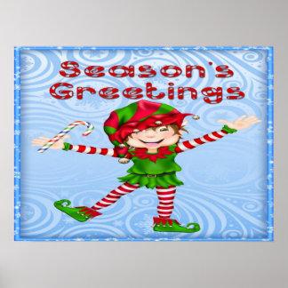 Affiche/copie d'Elf de Bonnes Fêtes