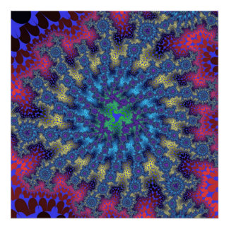 Affiche d éclat de fractale de Seafoam