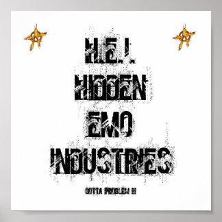 AFFICHE D INDUSTRIES DE H E I HIDDEN EMO