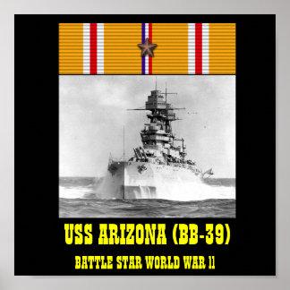 AFFICHE D USS ARIZONA BB-39