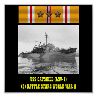 AFFICHE D USS CATSKILL LSV-1