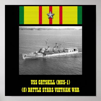AFFICHE D USS CATSKILL MCS-1