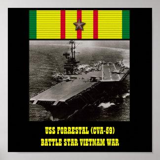AFFICHE D USS FORRESTAL CVA-59