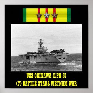 AFFICHE D USS L OKINAWA LPH-3