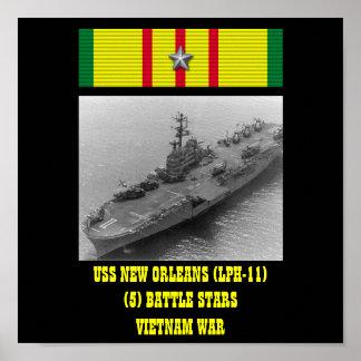 AFFICHE D USS NEW ORLEANS LPH-11