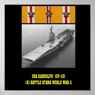 AFFICHE D USS RANDOLPH CV-15