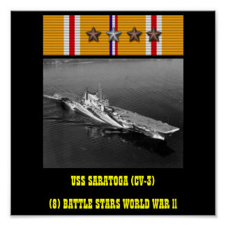 AFFICHE D USS SARATOGA CV-3