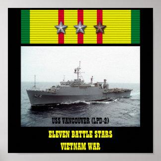 AFFICHE D USS VANCOUVER LPD-2