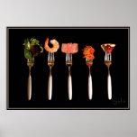 Affiche d'amants de nourriture