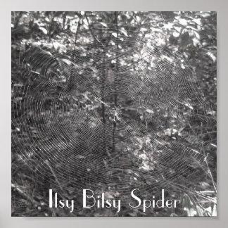 Affiche d'araignée d'Itsy Bitsy