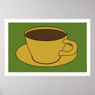 affiche d'art de bruit de tasse de café des années