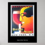 Affiche d'art déco de Restaurant Bistro Du Nord Ne