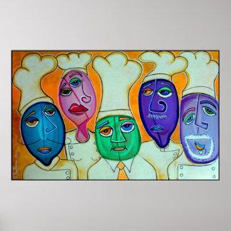 Affiche de 4 chefs
