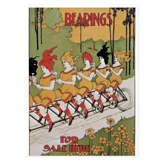 Affiche de bicyclette d'incidences carte postale