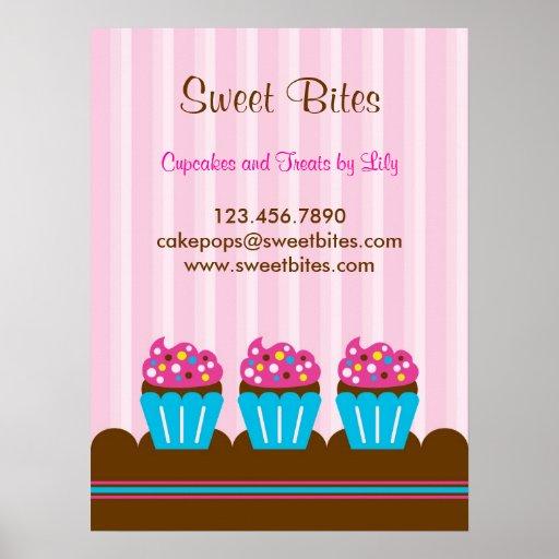 Affiche de boulangerie de petits gâteaux