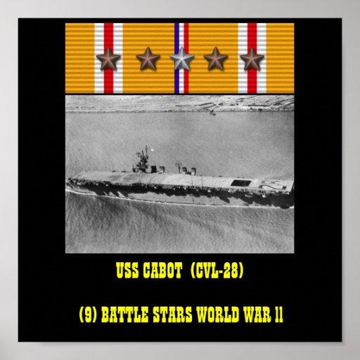 AFFICHE DE CABOT D'USS (CVL-28)