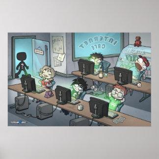 Affiche de café d'Internet de Forumwarz