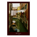 Affiche de canal de Venise de blanchisserie