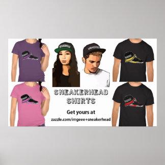 Affiche de chemises de Sneakerhead