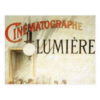 Affiche de cinéma de frères de Lumière Carte Postale