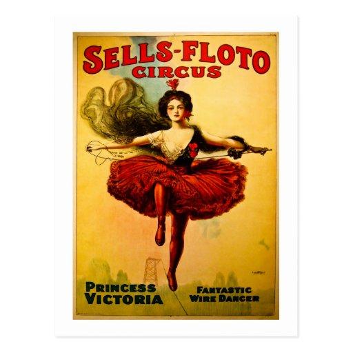 Affiche de cirque de Ventes-Floto de cru Cartes Postales