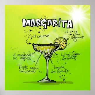 Affiche de cocktail de margarita
