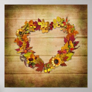 Affiche de coeur de thanksgiving