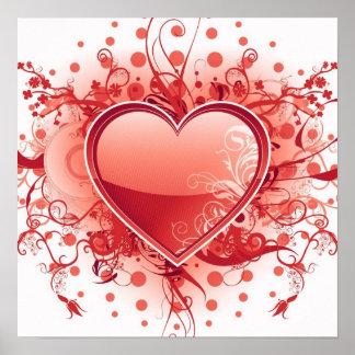 Affiche de conception de coeur d Emo